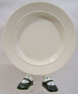 Carlton Ware Walking Ware Plate - Dark Green Shoes Blue Spots - SOLD